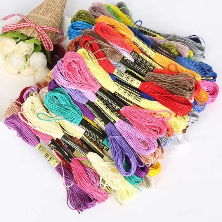 100 Muliti Color Cross Stitch Cotton Sewing Thread Embroidery Floss DIY Craft Sewing Accessories Tools each color 7.5m 6 shares