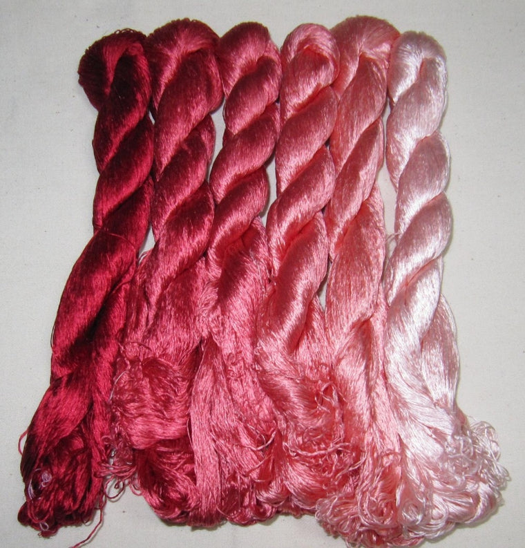 6 skeins Chinese natural mulberry silk embroidery threads floss 440m per skein #114 440m per skein