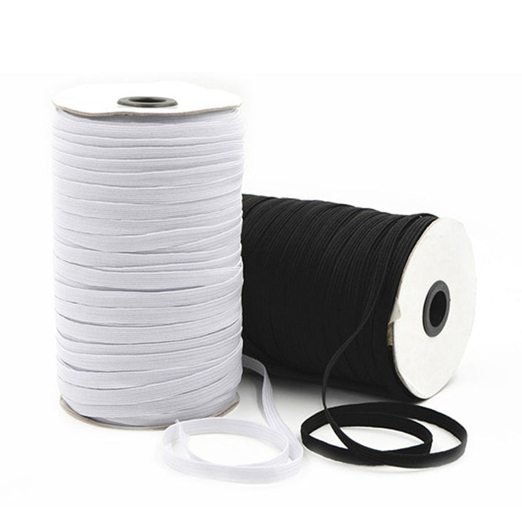 120 Yards/70 Yards Elastic Bands For Clothes 3mm/5mm/7mm/9mm Rubber Elastic Cord Band Garment Sewing Accessories Black White