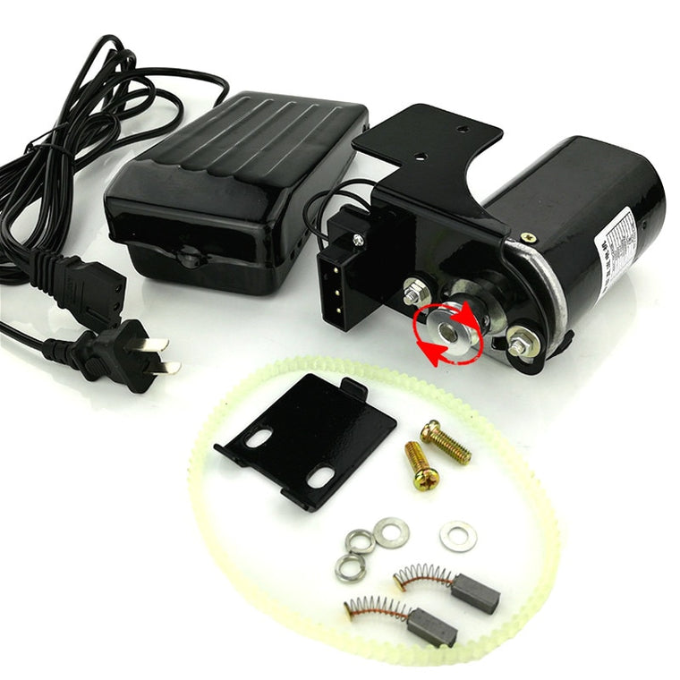 220V 250W Home Overlockers Machine Motor 12500rmp 1.0 Amps with Foot Pedal Controller Speed Pedal  Clockwise Rotation
