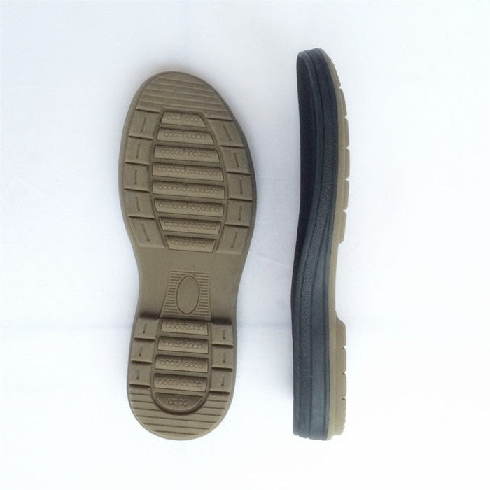 Men's tendon double-colored layer sole Rubber soles high-sole Replace worn soles Wear-resistant shoe materials
