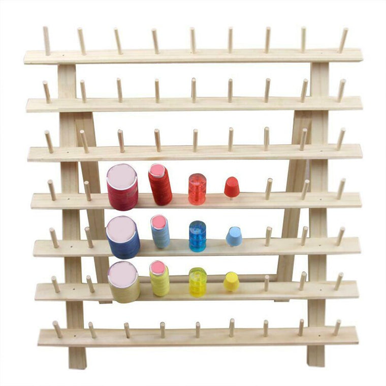 63 Spool Wood Sewing Thread Stand Organizer Embroidery Storage Rack Holder Bracket HFing