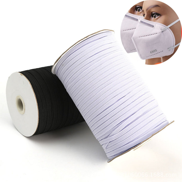 Elastic Bands 3mm 5mm 6mm 8mm 10mm 12mm Wide Elastic Rubber Tape For Diy Masks Trouser Clothing Sewing Supply Accessories 1 Roll