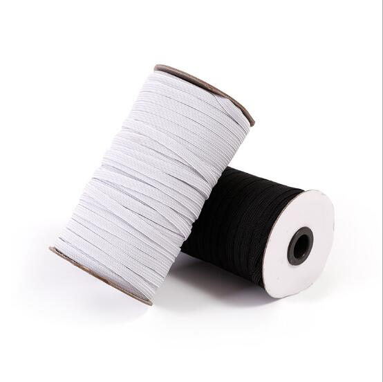 1 roll Elastic Stretchy Bands Flat Cord for Waist Sewing Clothing Trousers Lingerie