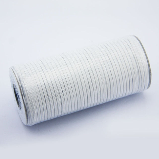 1 Roll Elastic Bands White and Black 3/5/8/10/12/mm Polyester Elastic Bands for Clothes Garment Sewing Accessories