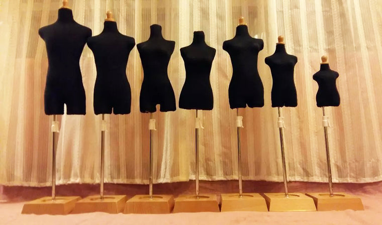 Mini Size Dress Form Mannequin for BJD Doll Clothes/DIY Dress, Pinnable Dress Model, Black Color, price for one size one piece~