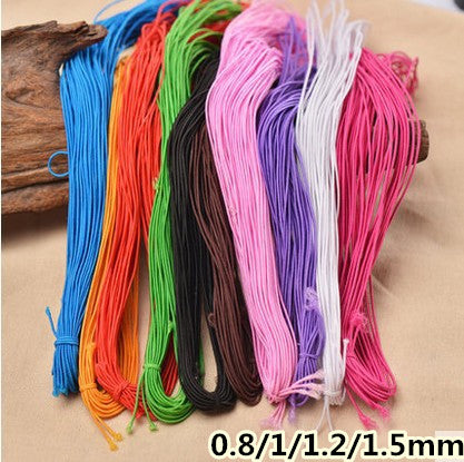 10colors/lot 0.8/1/1.2/1.5mm Stretch Elastic Beading Cord line thread string with core necklace bracelet jewellery free shipping