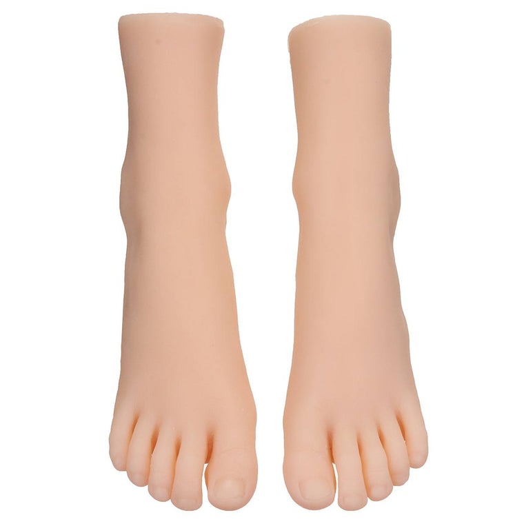 1 Pair Female Foot Sock Silicone Girl Feet Mannequin Foot Model Tools for Shoes and Socks Anckle Chains Display 29 Size