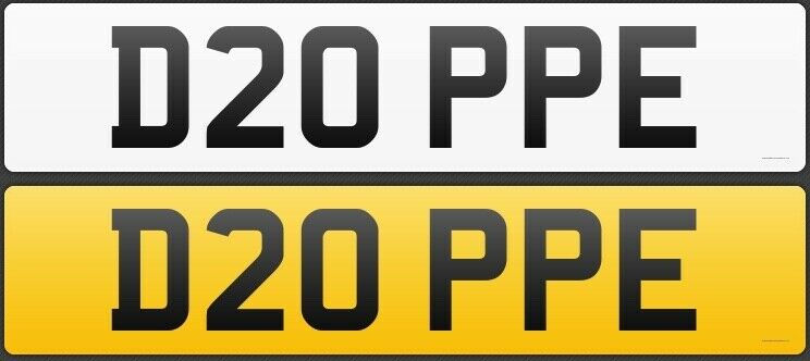 D20PPE DOPE DOPEY NUMBER PLATE REGISTRATION PRIVATE CAR REG ASSIGNED FREE - numberplatelab