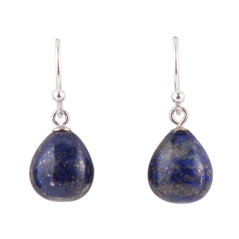 Simple Drops Lapis Earring