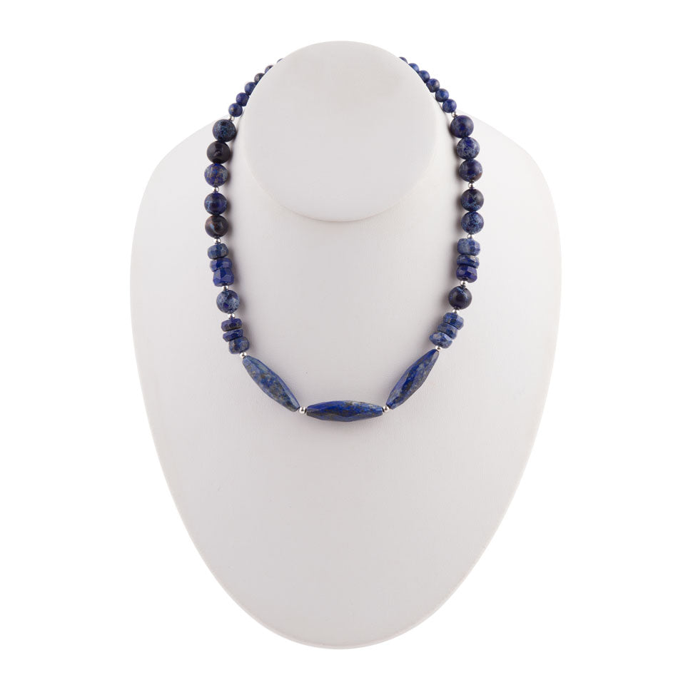 Night Tide Lapis Necklace