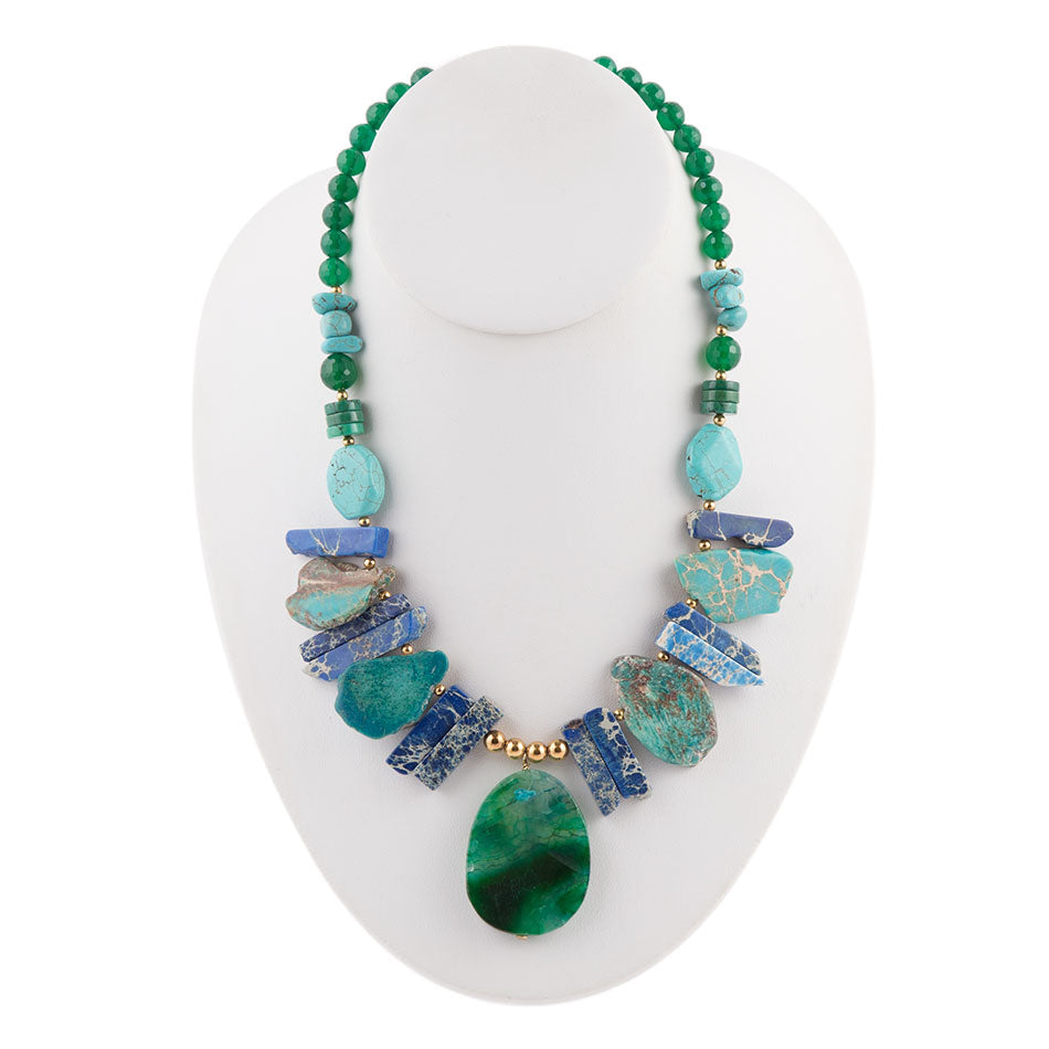 Azure Bay Stone Necklace