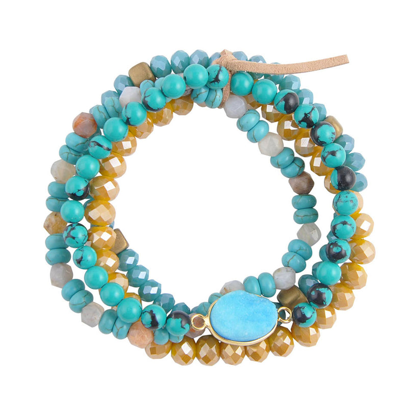 Turquoise and Sunshine Bracelet