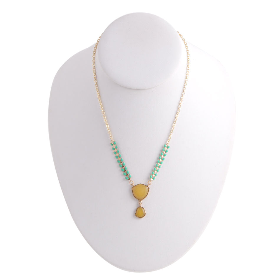 Drop into Spring Necklace