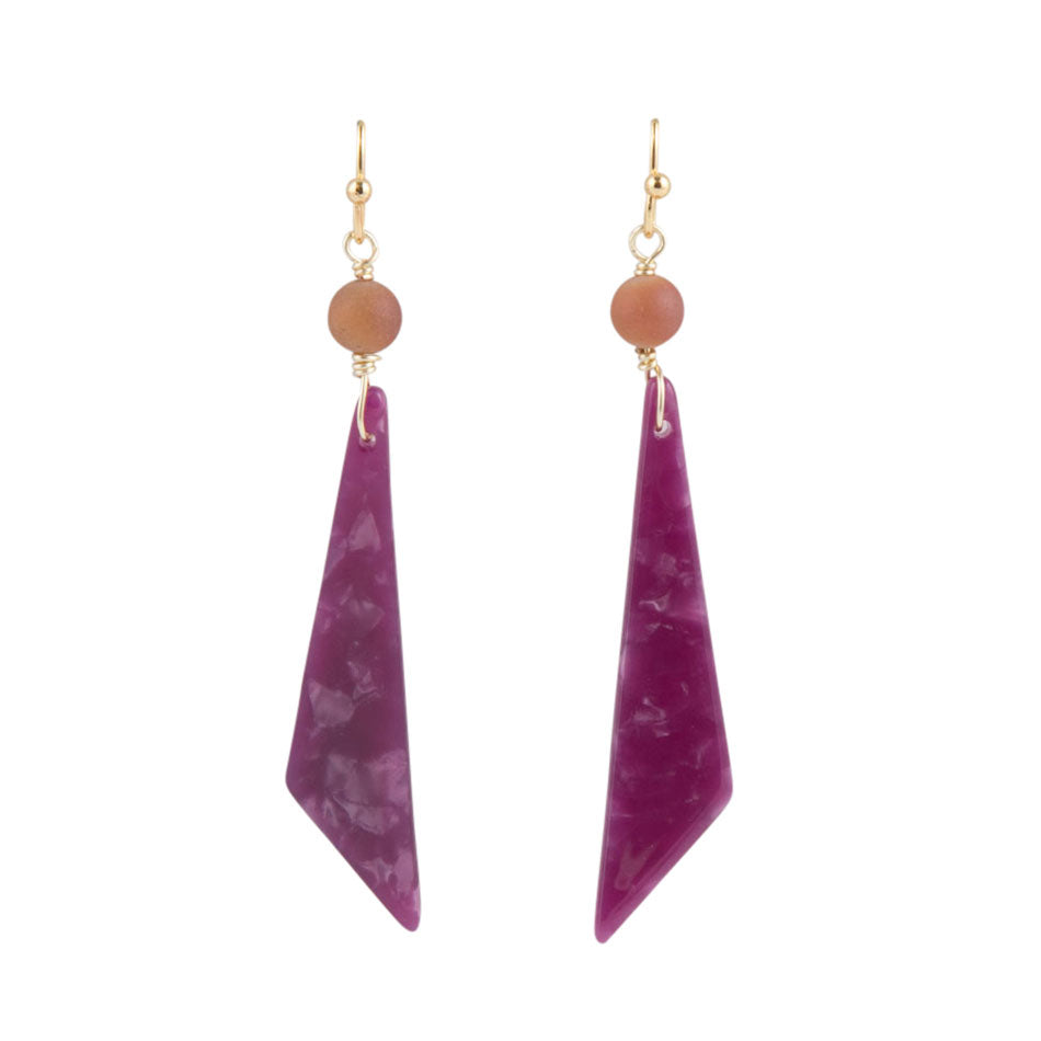 Sharp Sunset Earrings