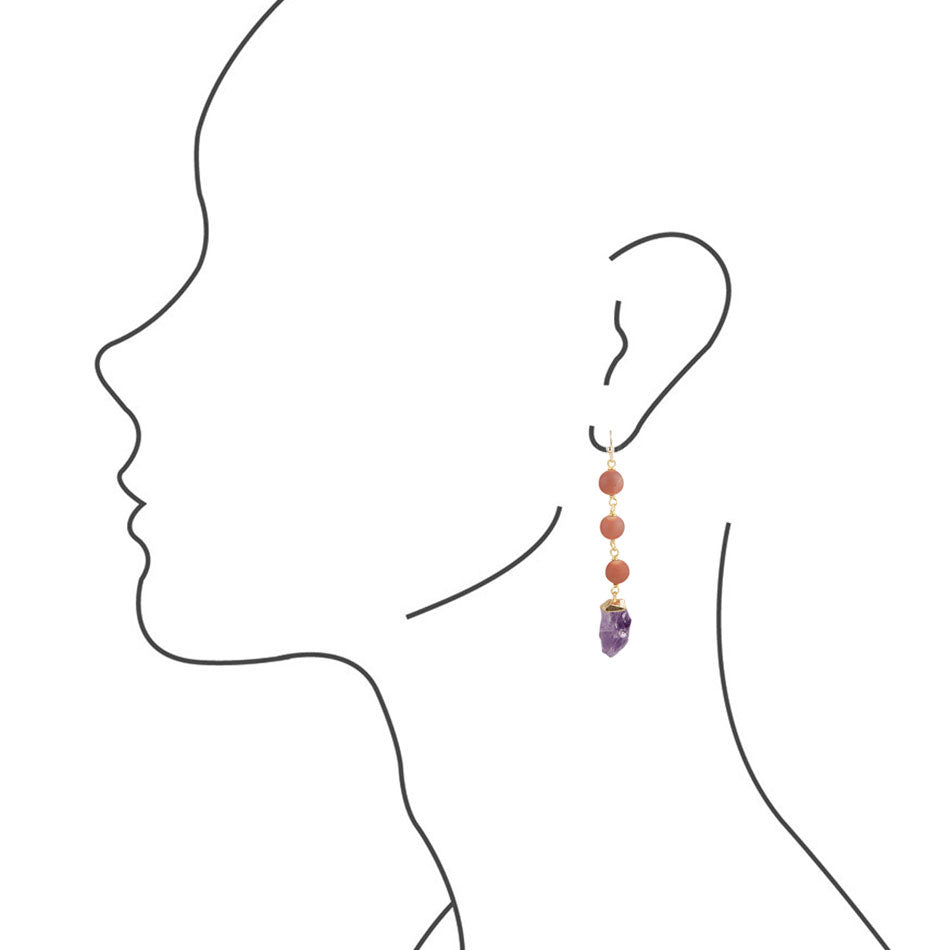 Purple Dancing Earrings