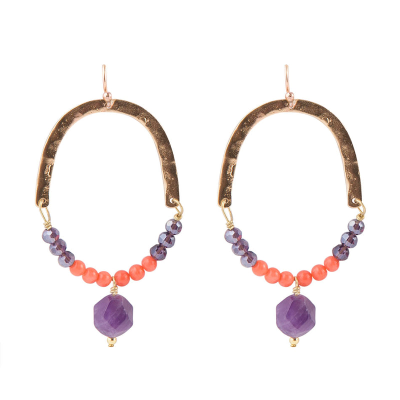 Purple-Go-Round Earring