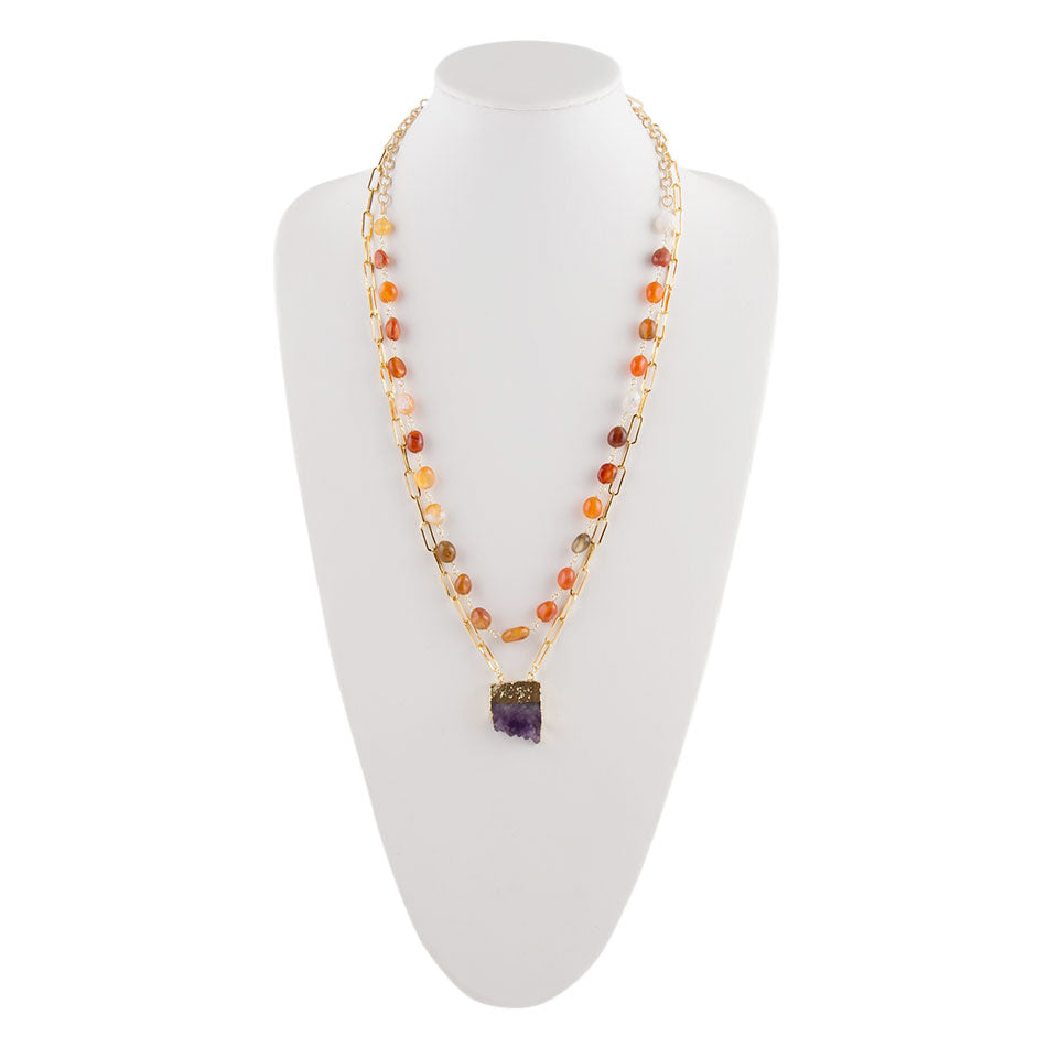 Carnelian Links Chain Necklace