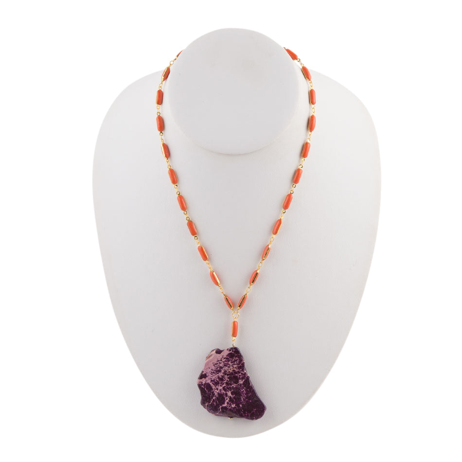 Purple Jasper Color Pop Necklace