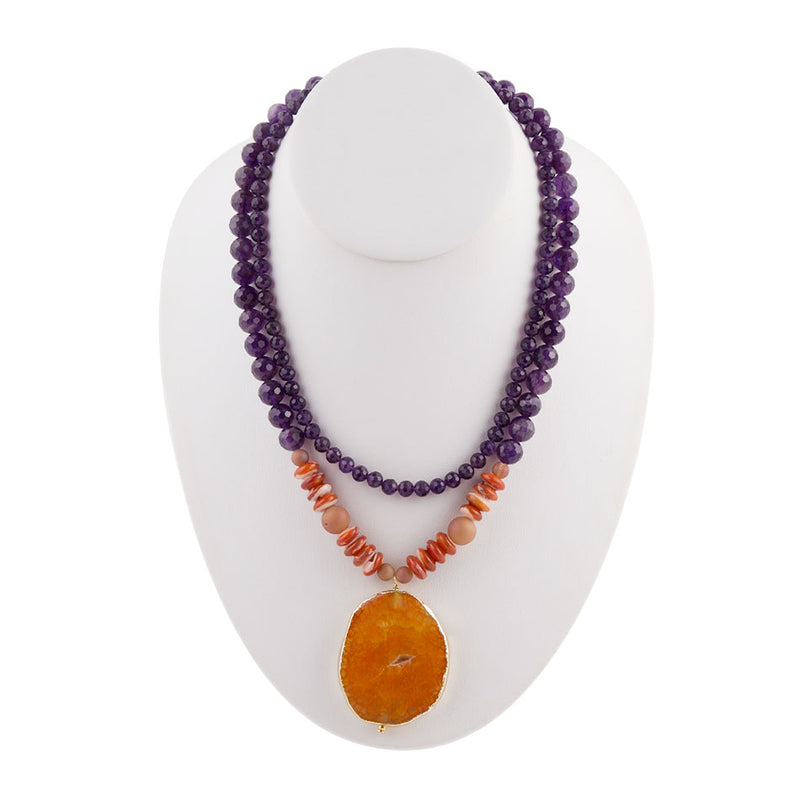 Purple Majesty Agate Necklace