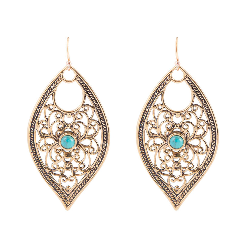 Eye Of Cleopatra Turquoise Earring