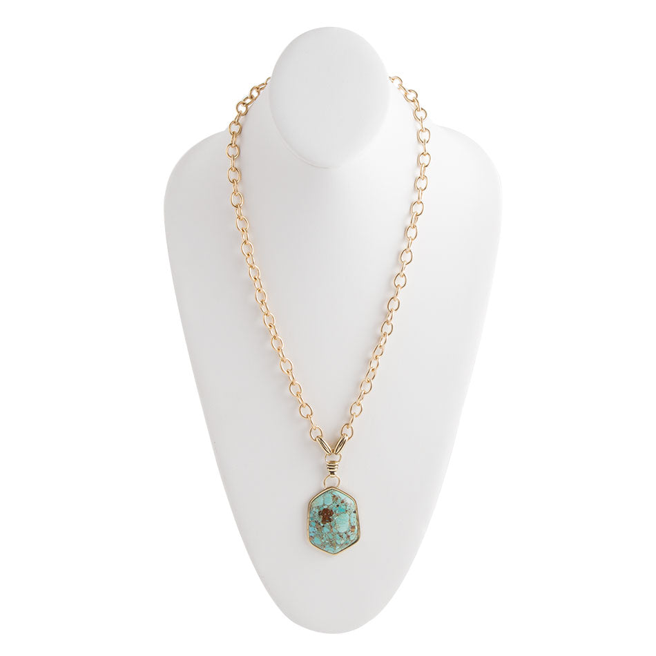 Exceptionally Turquoise Pendant Necklace