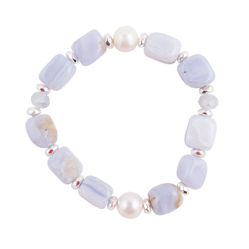 Pastel And Pearl Bracelet