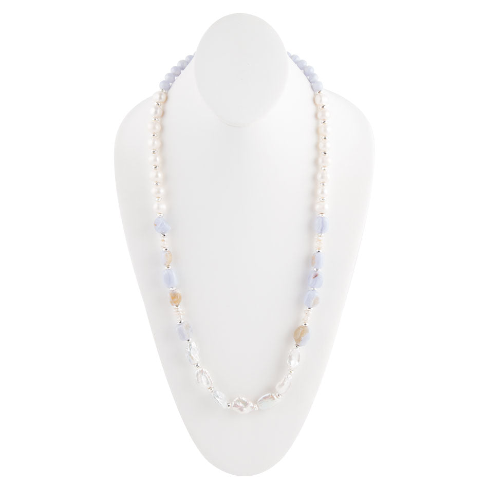 Serenity Pearl and Agate Necklace