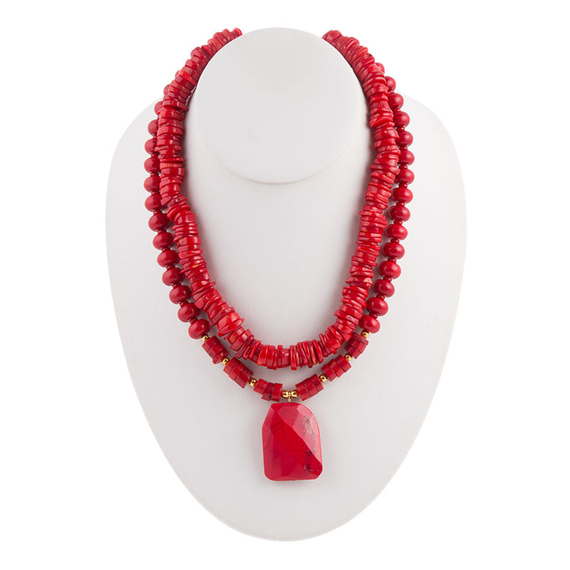 Beading Red Hot Necklace