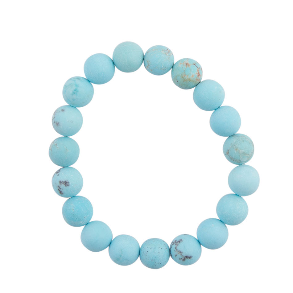 Matte Blue Stretch Bracelet