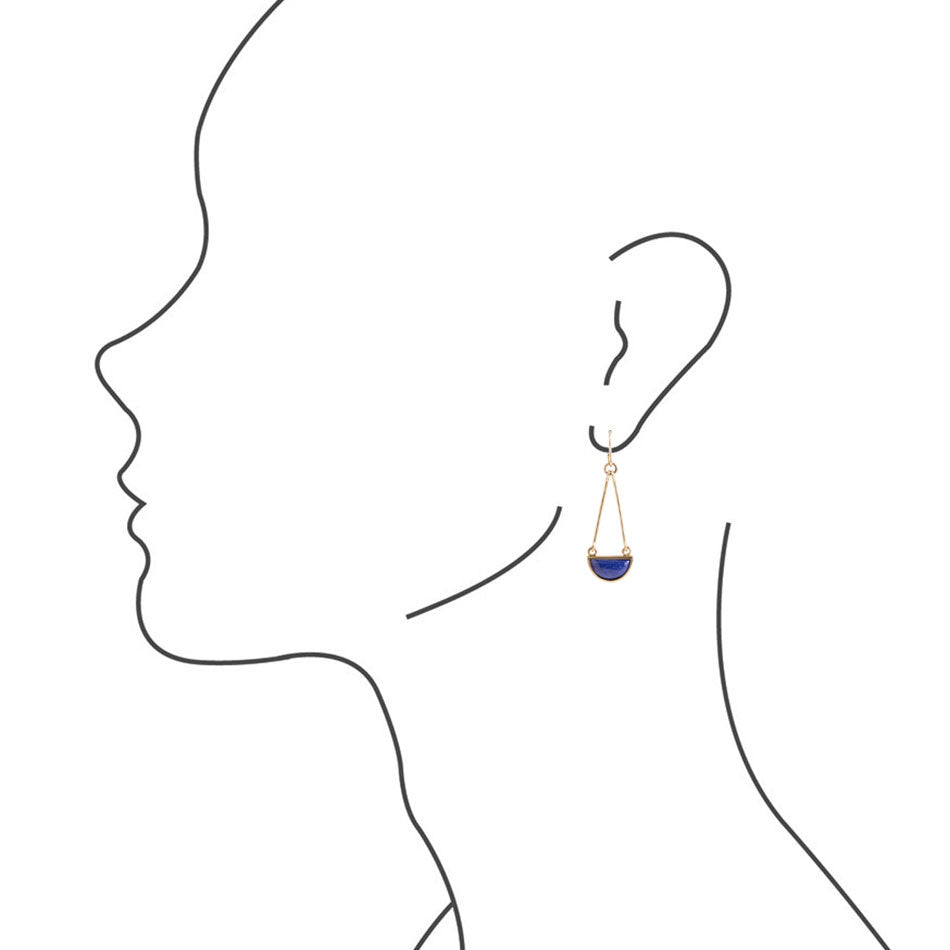 Balanced Out Earrings - Lapis