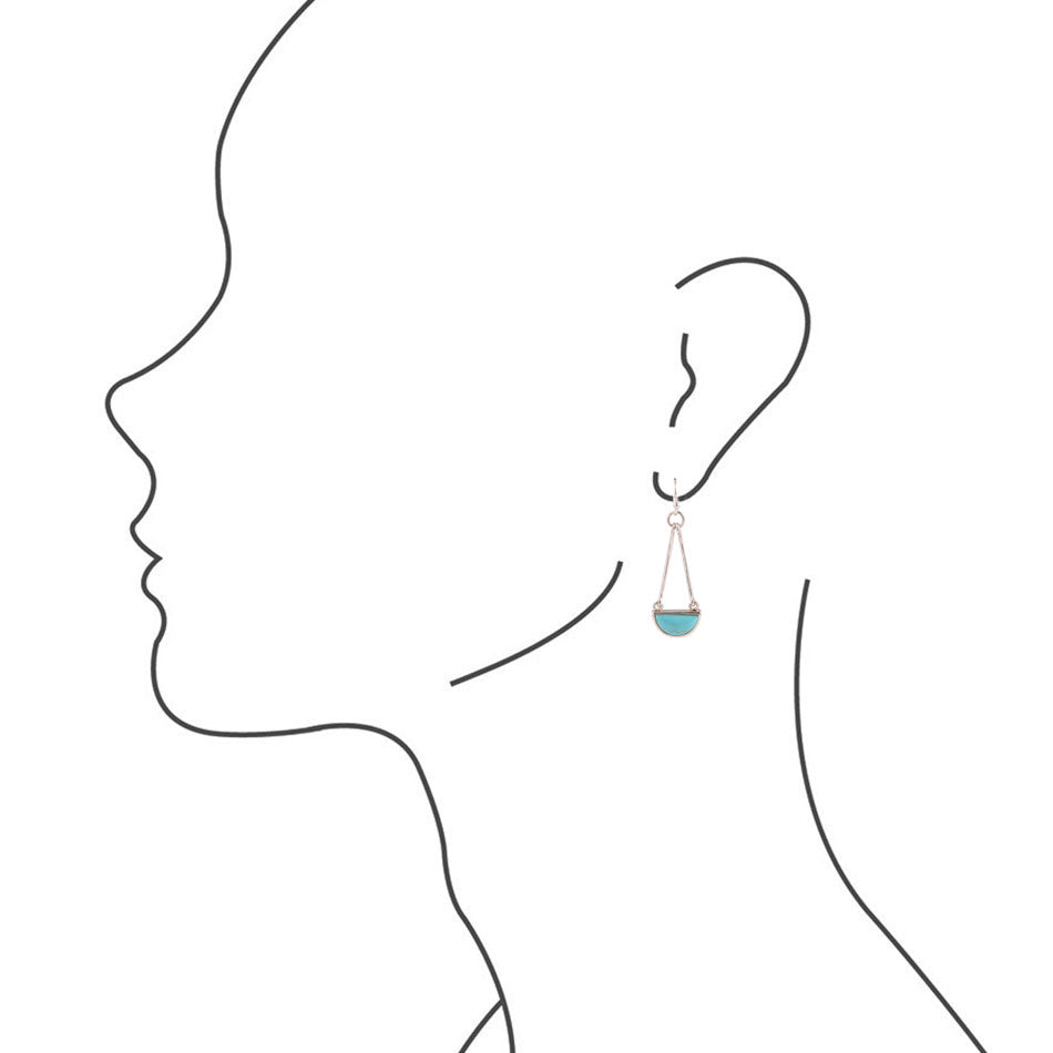 Balanced Out Earrings - Turquoise