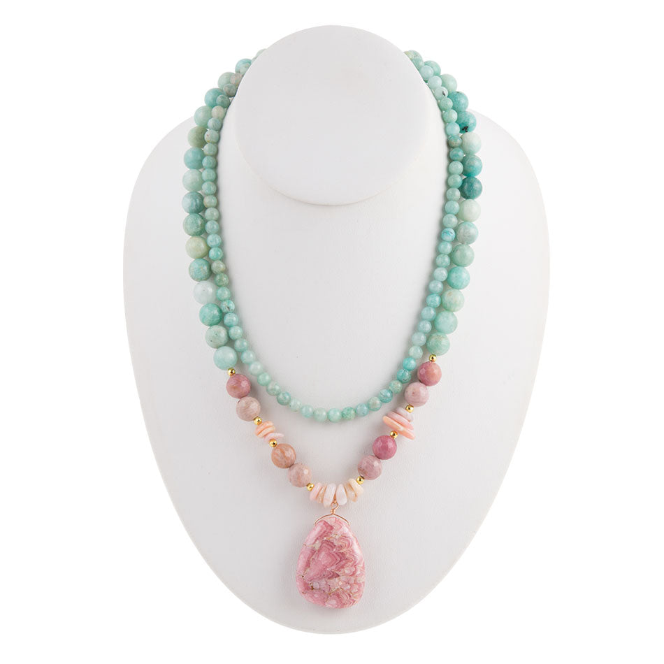 Jasper and Amazonite Necklace