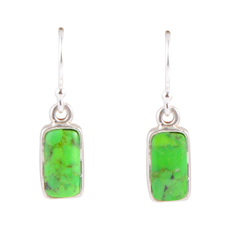 Hang Time Earring - Lime Turquoise