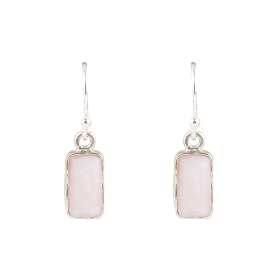 Hang Time Earring - Light Pink Opal