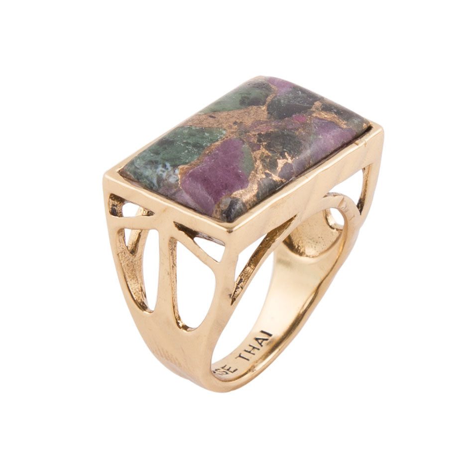 Best Choices Ring - Ruby Zoisite Matrix