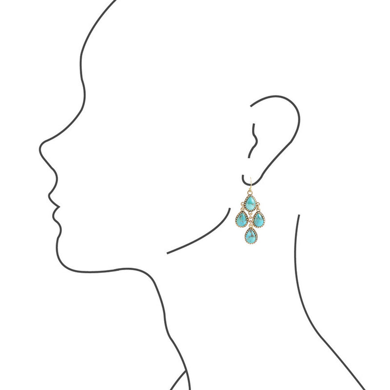 Turquoise Cascade Drop Earring