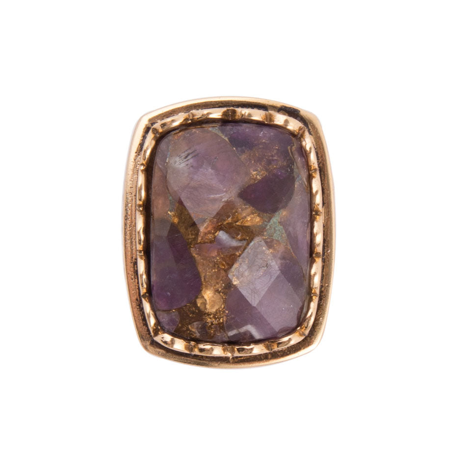Cocktail Hour Bronze Ring-Purple Matrix