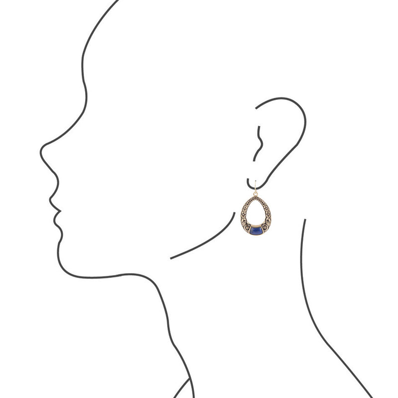 Copy of Secret Garden Bronze Earring - Lapis