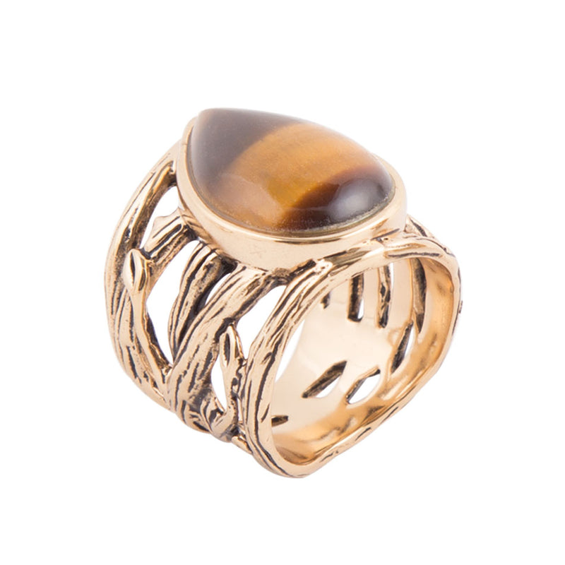 Tiger's Eye Of The Trees Ring
