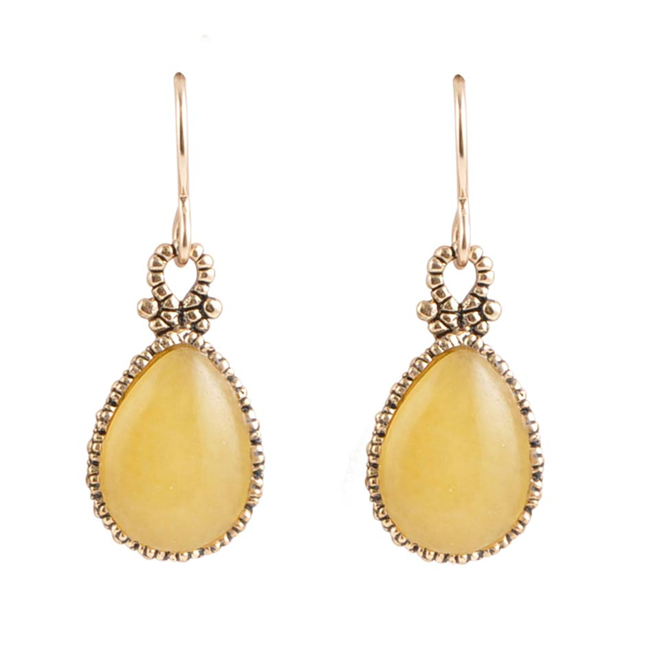 Dreamy Drop Chalcedony Earring