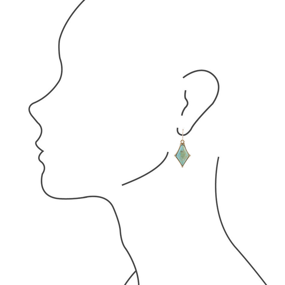 Turquoise Over Diamonds Earring