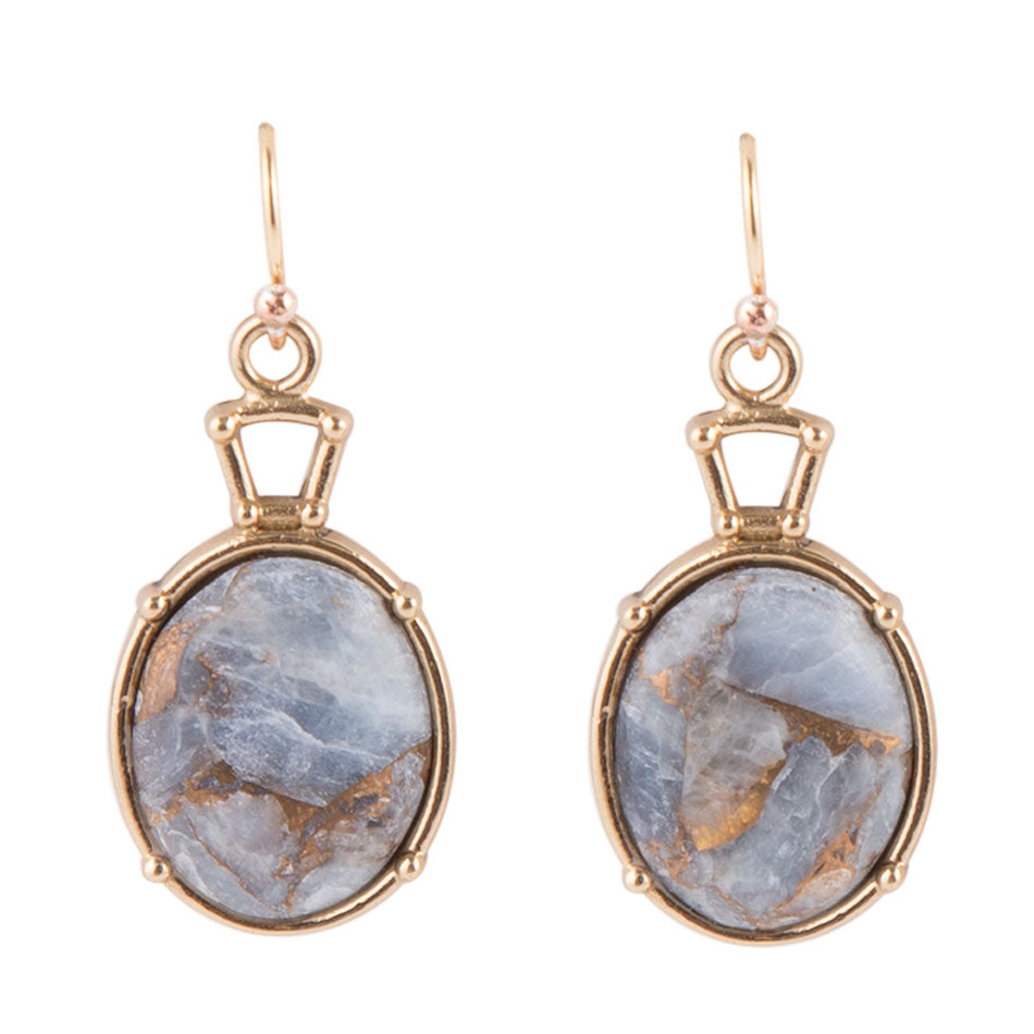 Blue Chalcedony Drop Earring