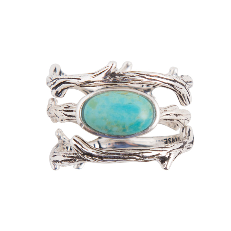 Turquoise Twig Stack Ring