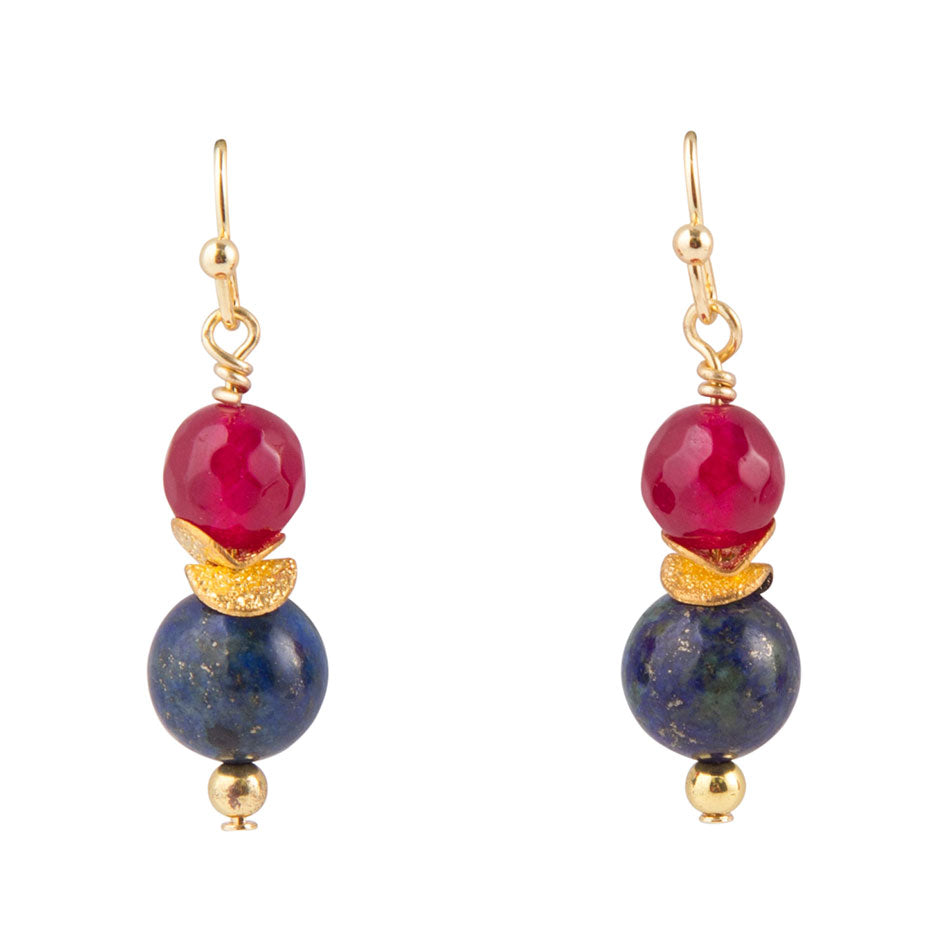 Scarlet Quartz Ornament Earring