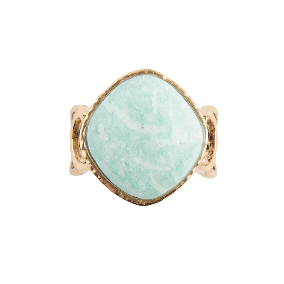 Amazonite Circle Dance Ring