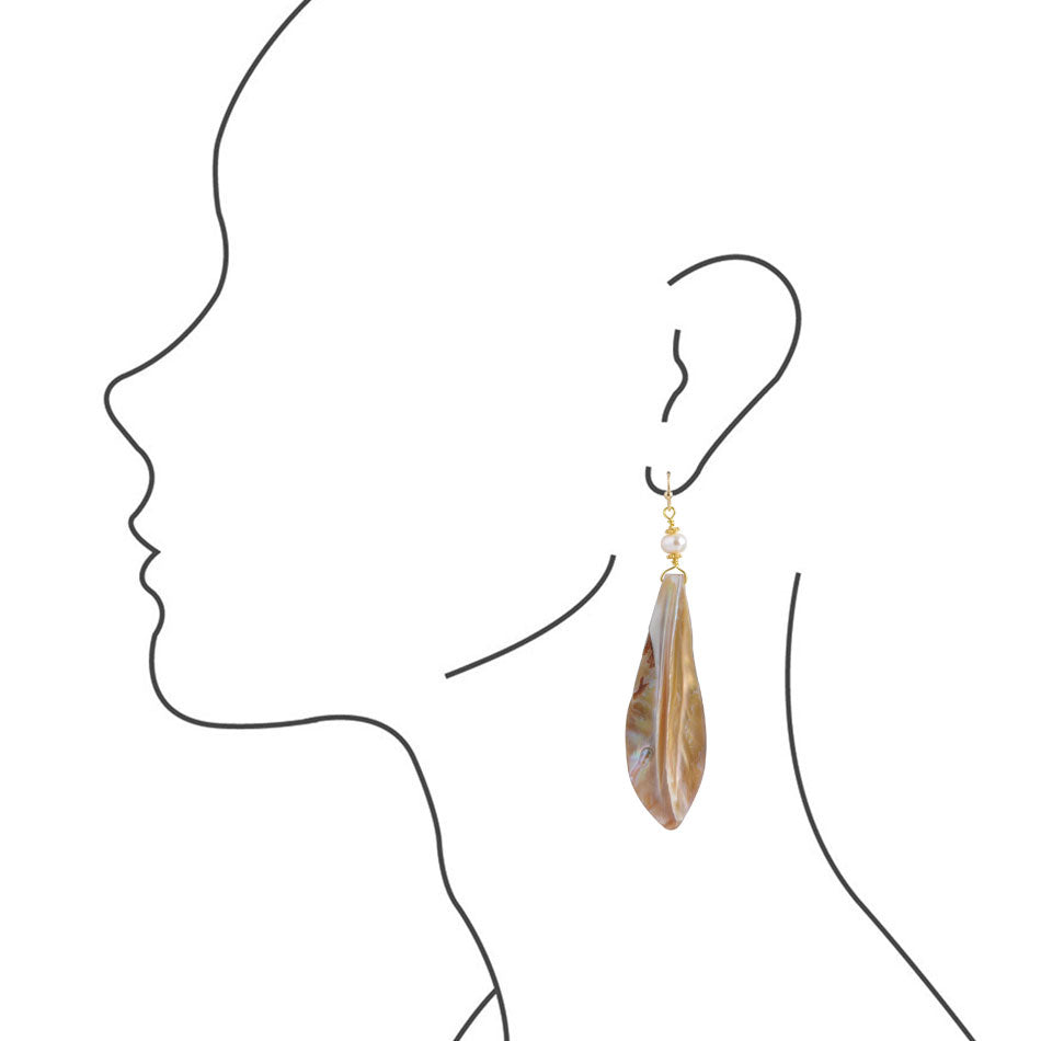 Mother of Pearl Statement Earring