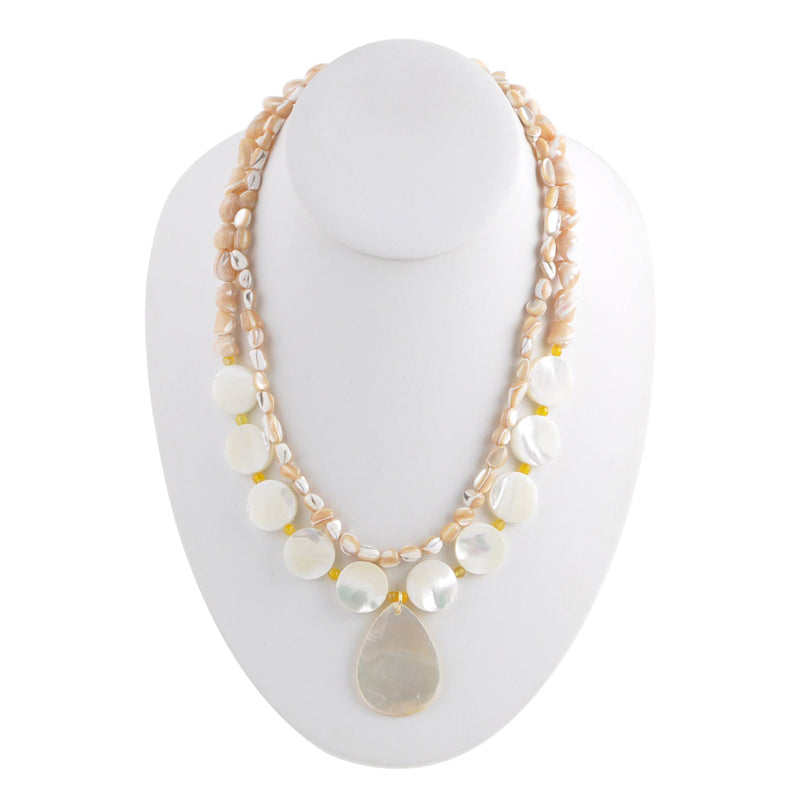 Shells and Pearls Statement Necklace