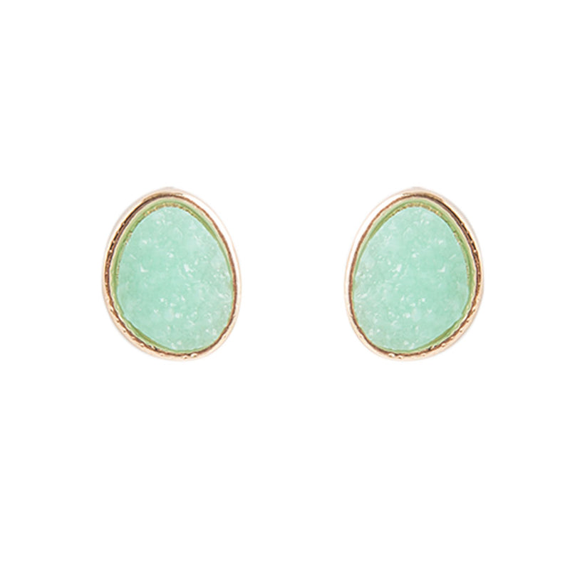 Minty Green Stud Earring