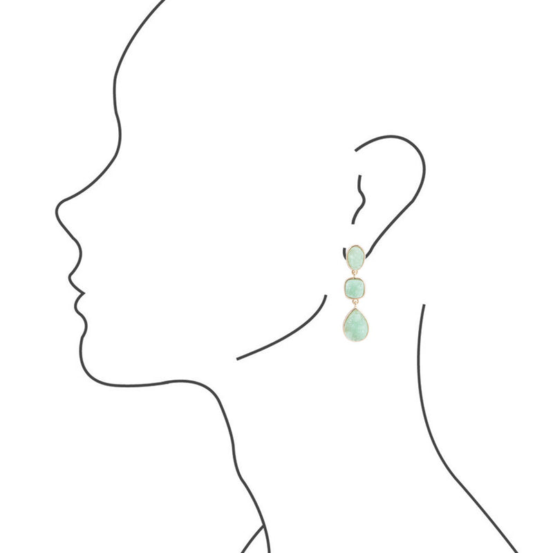 Triple The Mint Earring